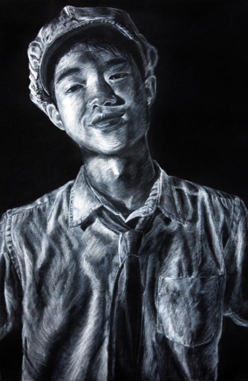 Portrait of Kwok Wy, 2011   Colour pencil on paper