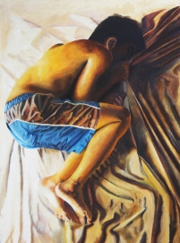 Curled, 2010 | Mixed Media on Canvas
