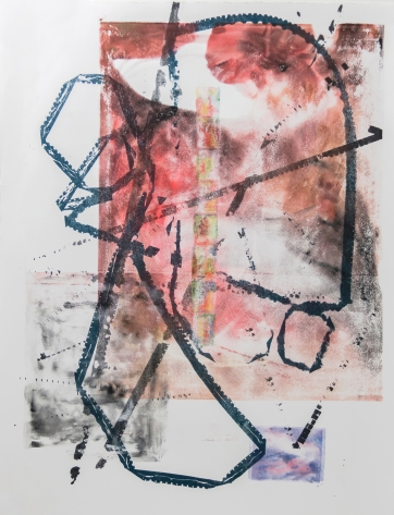 Homage to Film, III, 2015 | Screen print, monotype, pastel on paper