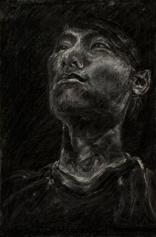 Portrait of Joseph   Charcoal on paper