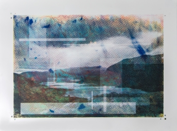 Attempts at Stilling my Breath, 2015 | Screen print and monotype on paper