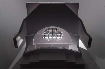 Light Installation Maquette for Chicago Cultural Center, 2014 | 3D-printed plastic, transparent cord, foam board, nails