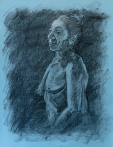 Subtractive #2, 2015 | Charcoal on paper