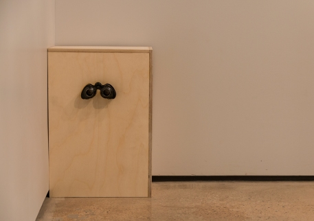 Silences of Horeb, 2015 | Wood, light, found binoculars