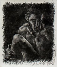 Subtractive #3 | Charcoal on paper