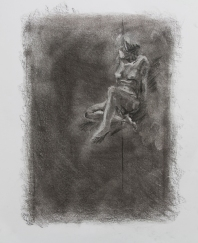 Subtractive #1, 2015   Charcoal on paper
