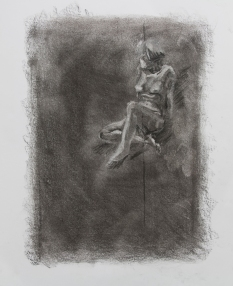 Subtractive #1, 2015 | Charcoal on paper