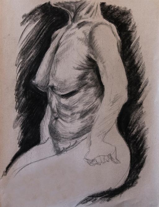 Study of Female Torso, 2015 | Charcoal on paper